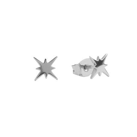 parade earrings starburst silver