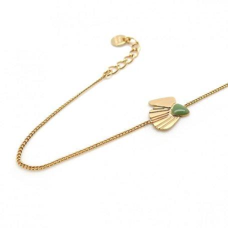 LAV03  bracelet coquillage amande