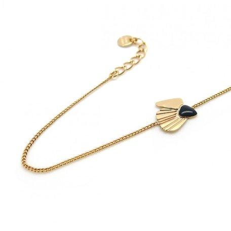 LAV03  bracelet coquillage charbon