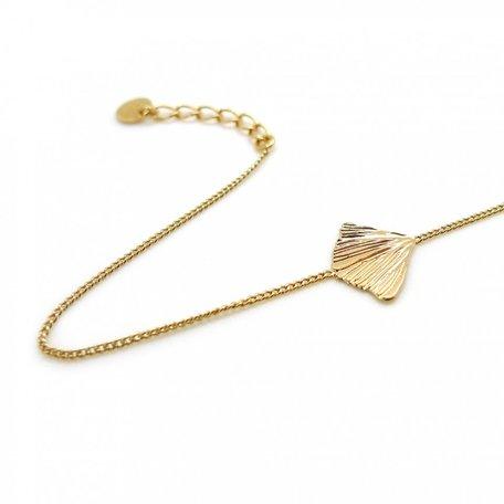 GIN09 bracelet petite feuille
