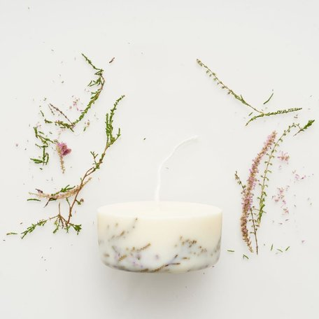 mini soy wax candle heather