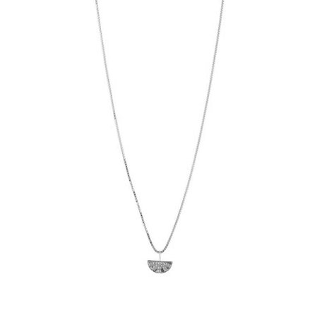 small rising sun necklace  necklace silver