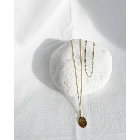 YOU are MY ROCK necklace goldplated