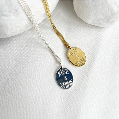 rise and shine necklace SILVER
