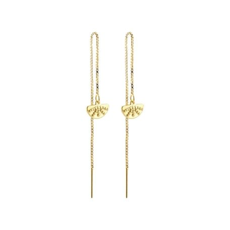 pull through rising  sun earrings GOLD