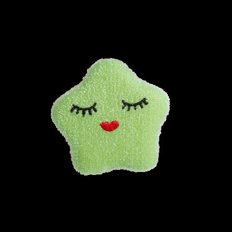 kitchen sponge star green