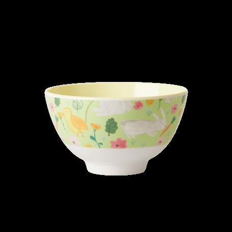melamine bowl S green