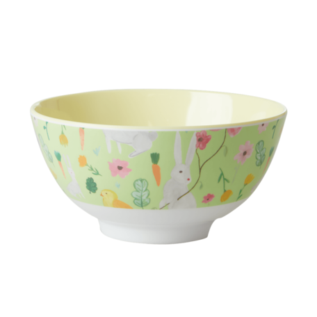 melamine bowl M green