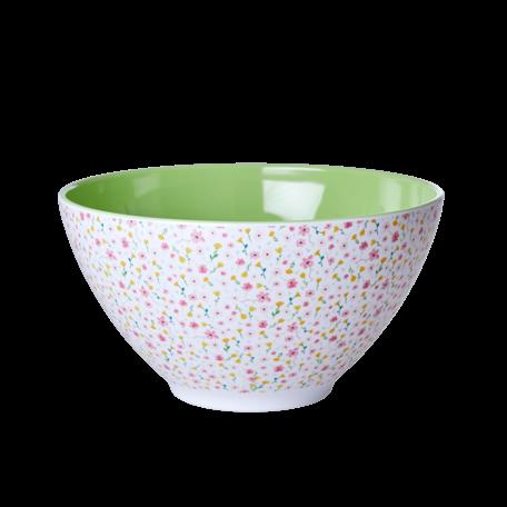 melamine XL salad bowl spring white