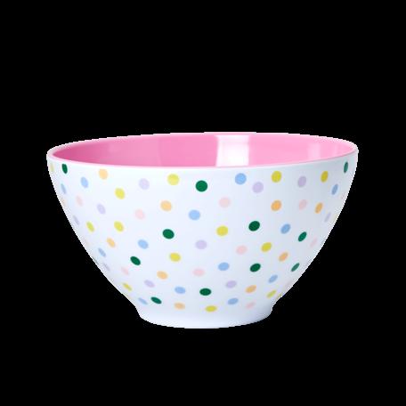 melamine XL salad bowl dots