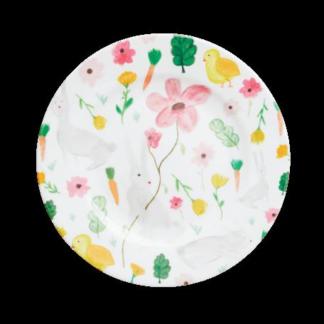 melamine cake plate white