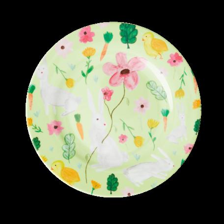 melamine cake plate green