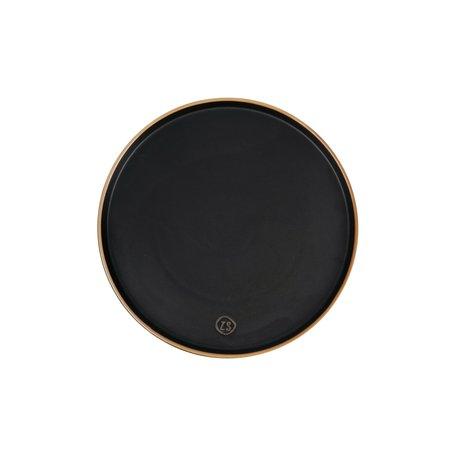 dinerbord aardewerk zwart
