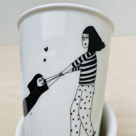 cup spinning around