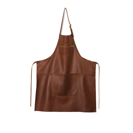 leather apron classic brown
