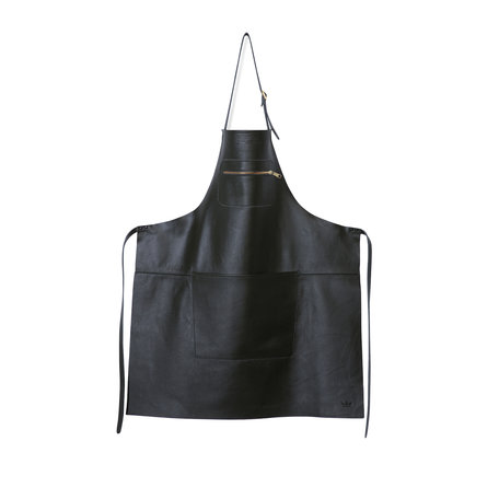 leather apron black