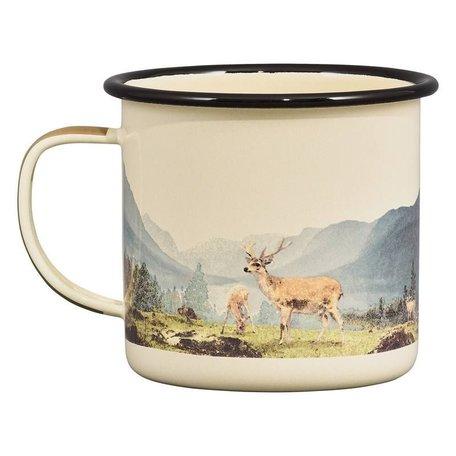Enamel mug deer 500ml
