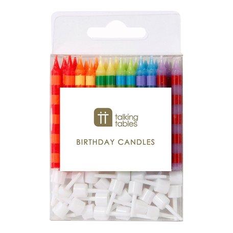 birthday bash striped candles