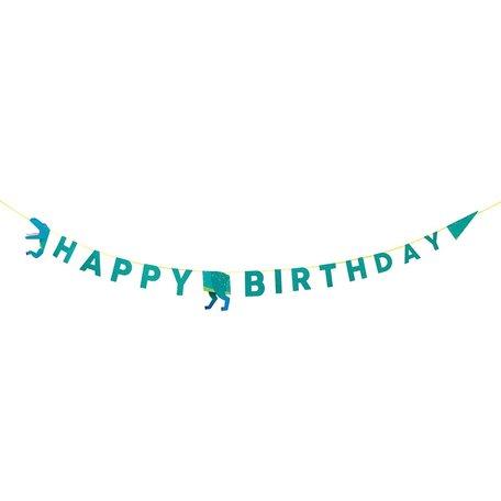 party Dino happy birthday garland