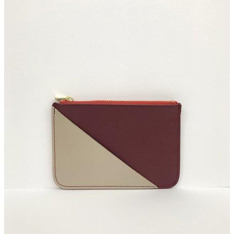 coin purse burgundy gold CP005-BU
