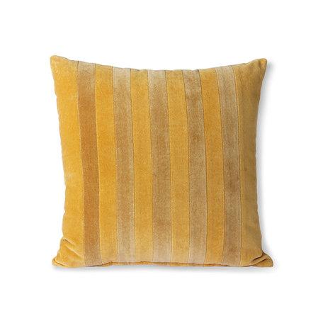 TKU2114  Striped velvet cushion