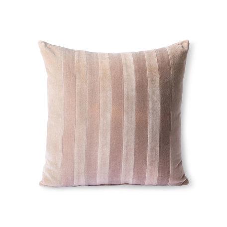 TKU2113  Striped velvet cushion