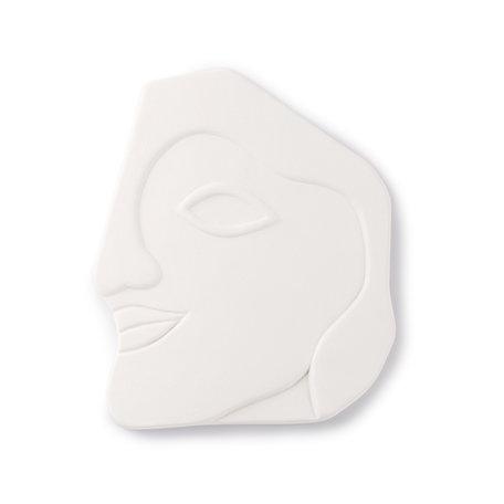 face wall ornament matt white