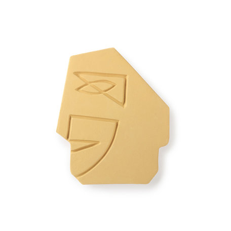 face wall ornament S mustard yellow