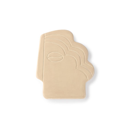 face wall ornament S shiny taupe ADW8884