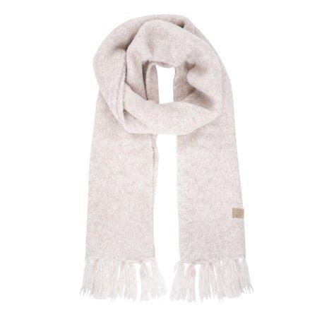 sjaal met franjes creme