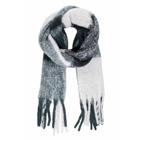 geruite sjaal met franjes groen