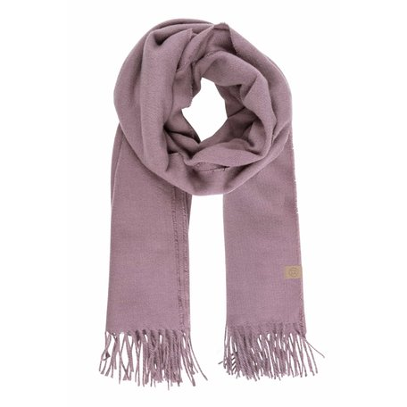 basic sjaal met franjes lila
