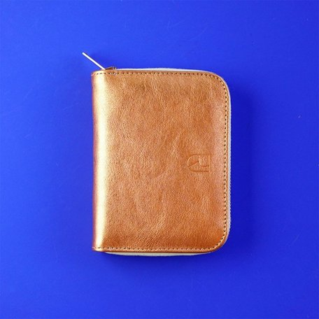 small leather wallet copper