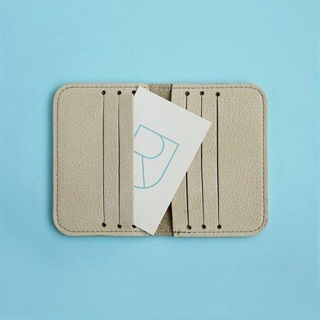 leather card sleeve nude