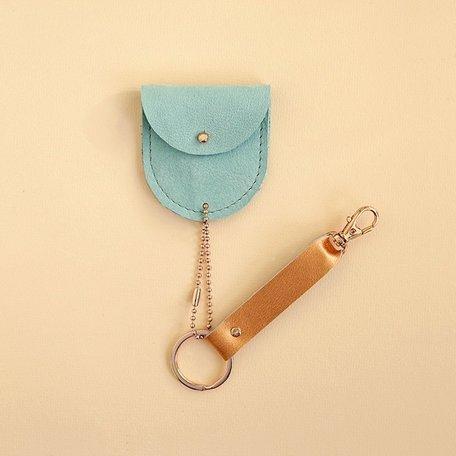 leather keychain mint
