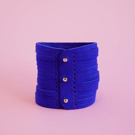 leather bracelet kobalt