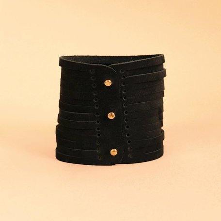 leather bracelet bio black