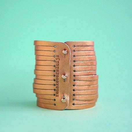 leather bracelet copper