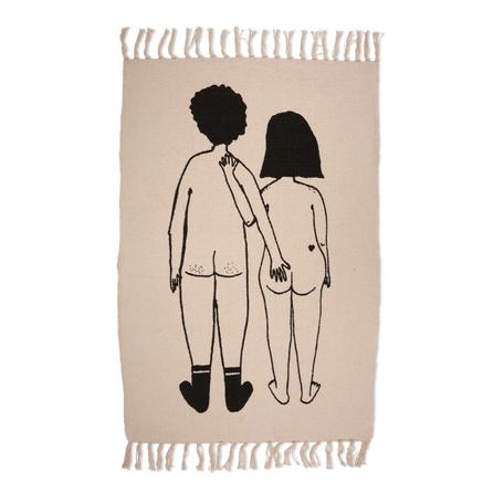 tapijt naked couple 60cm x 90cm