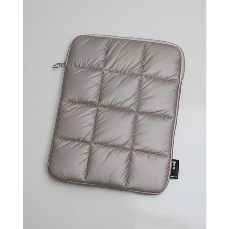 puffy laptop pouch dusty gold