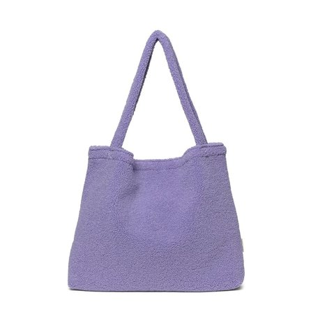 pastel lila  teddy mom bag