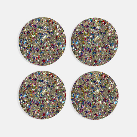 coasters carnival gold set of 4