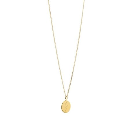 trust the journey necklace GOLD