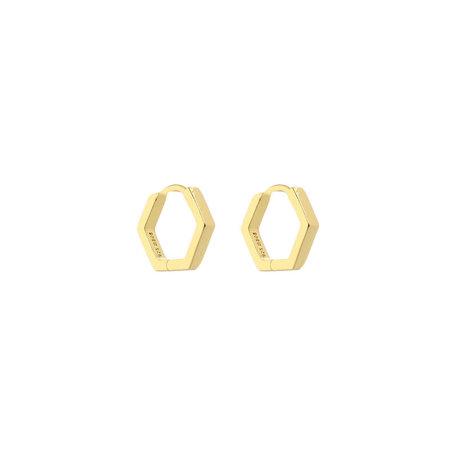 small hexagon cuff earring