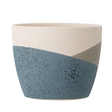 Noak deco flowerpot blue terracotta