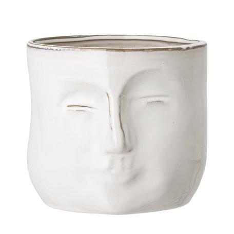 flowerpot white stoneware