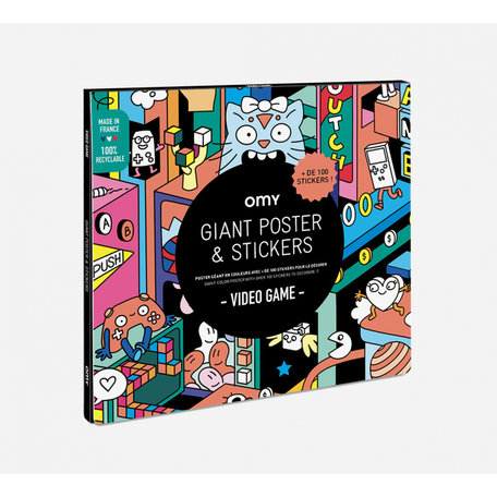 giant posters + stickers video game