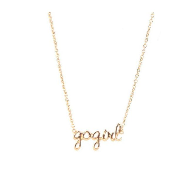 All the Luck in the World - Halsketting GoGirl - Gold