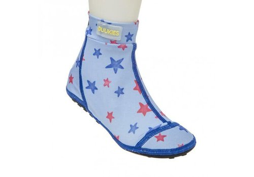 DUUKIES Beachsocks - Star Blue&Red