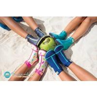 Beachsocks - Sharks Navy Aqua